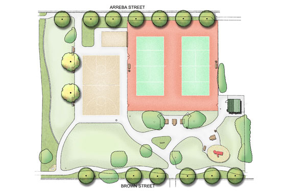 Cappy Ricks Park Plan Rendering